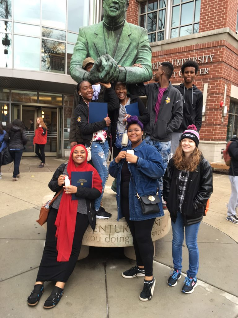 Students on the Chicago college tour with Project Success