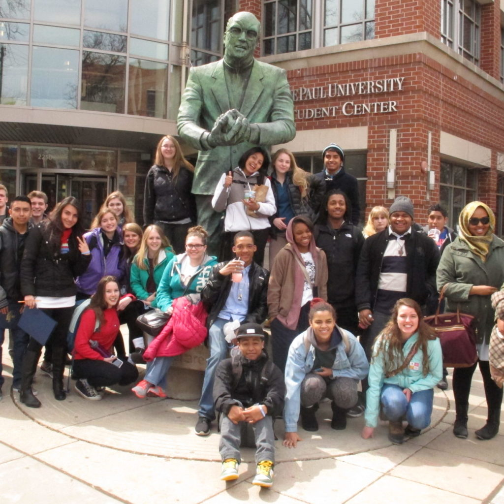 Students on a Project Success college tour in Chicago