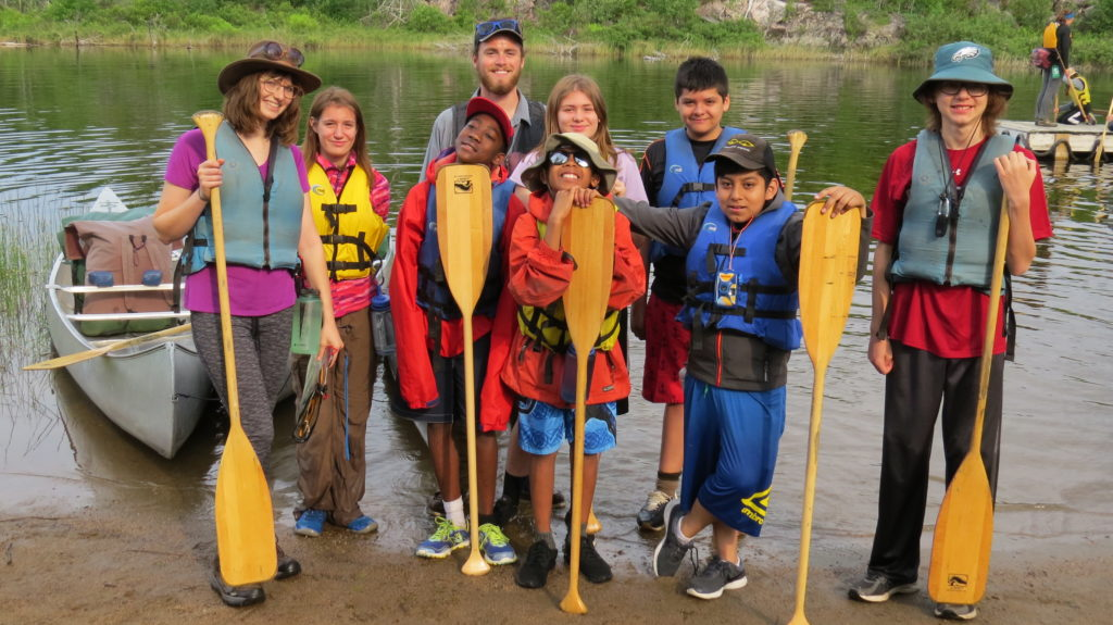 Students in the Boundary Waters with Project Success